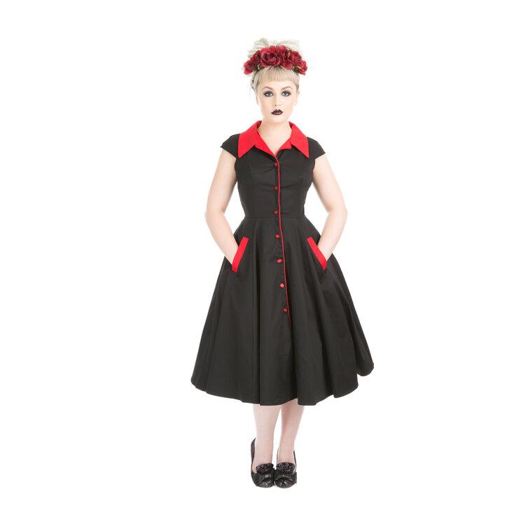 Schwarz rotes kleid