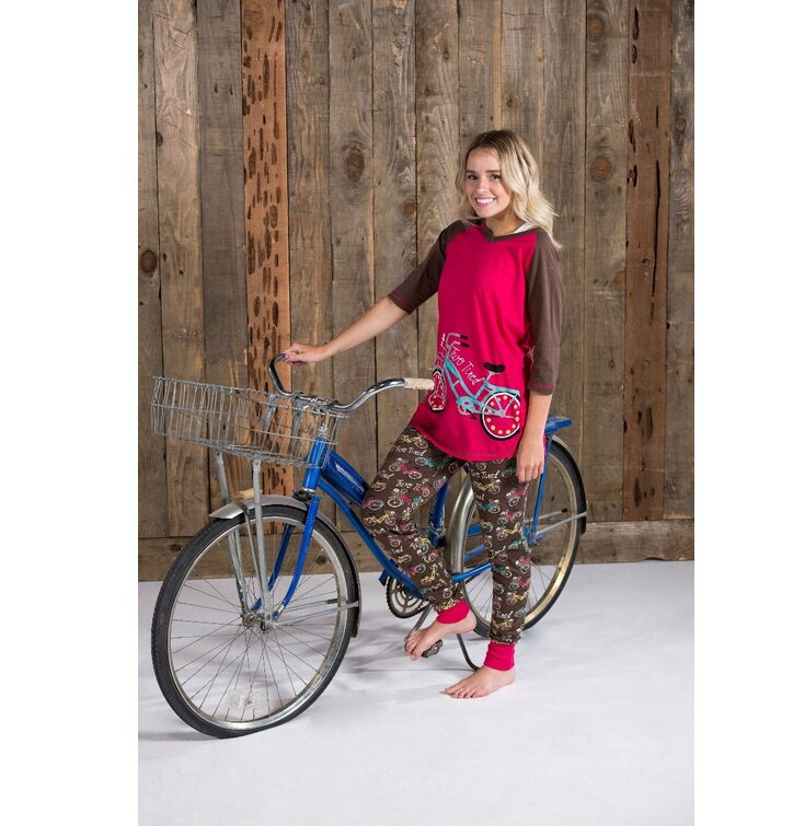 damen pyjama leggings retro fahrrad dedoles. Black Bedroom Furniture Sets. Home Design Ideas