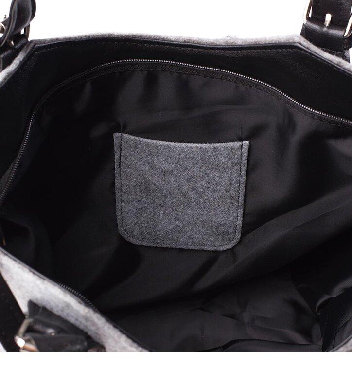 handtasche excent schwarze und wei e katze dedoles. Black Bedroom Furniture Sets. Home Design Ideas